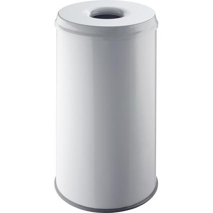 helit Stahl-Papierkorb, mit Flammenlöschkopf, 50 Liter