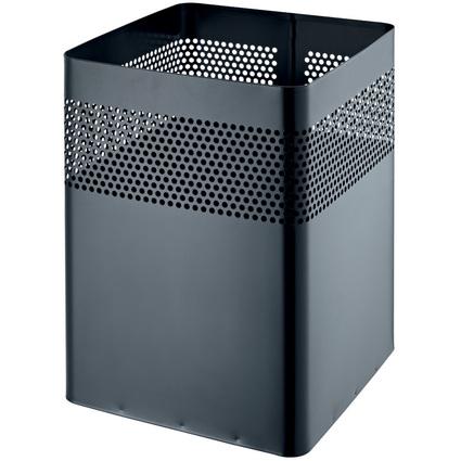 helit Stahl-Papierkorb, mit Lochdekor, 15 Liter, schwarz