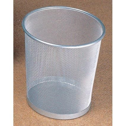 helit Papierkorb Mesh, aus Drahtmetall, 15 Liter, silber