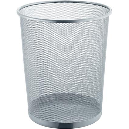 helit Papierkorb Mesh, aus Drahtmetall, 23 Liter, silber