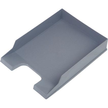 helit Briefablage Standard, DIN A4, Polystyrol, mittelgrau