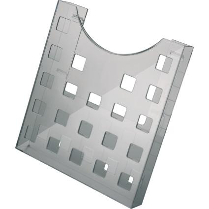 helit Prospekthalter, DIN A4 hoch, grau-transparent