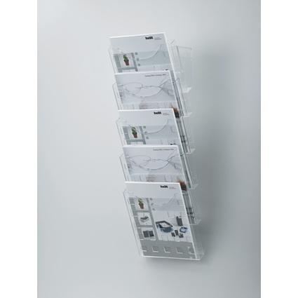 helit Wand-Prospekthalter-Set, DIN A4 hoch, glasklar