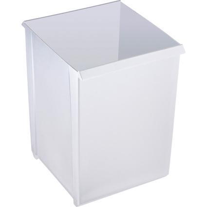 helit Papierkorb, 20 Liter, quadratisch, lichtgrau