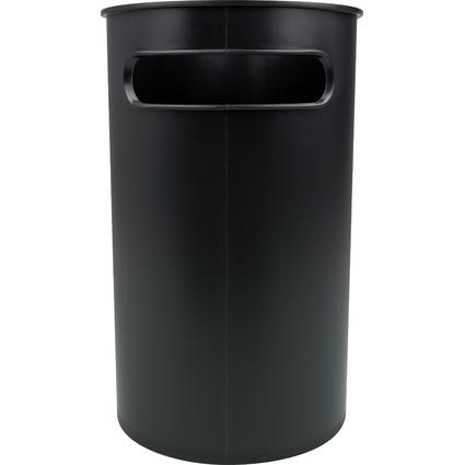 helit Papierkorb Design Classics, 22 Liter, PS, schwarz