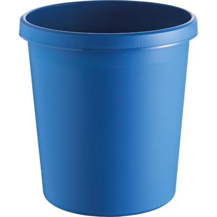 helit Papierkorb, 18 Liter, PE, rund, blau