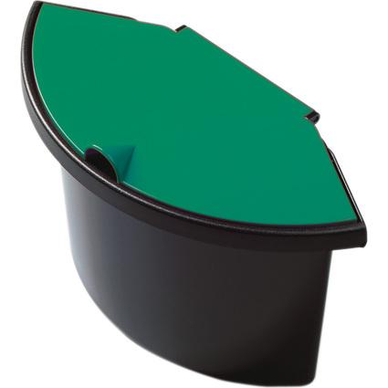 helit Abfall-Einsatz für Papierkorb H61058, schwarz/grün