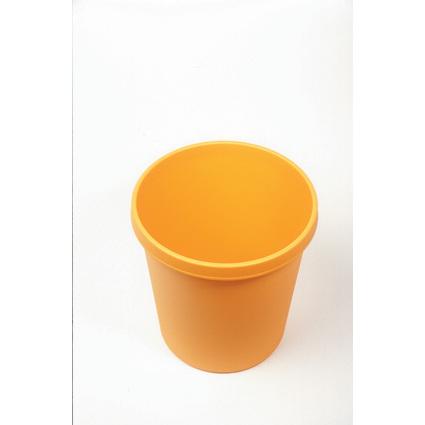 helit Gross-Papierkorb, 30 Liter, PE, gelb