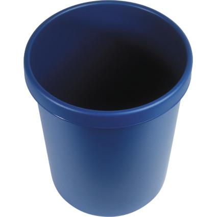 helit Gross-Papierkorb, 30 Liter, PE, blau