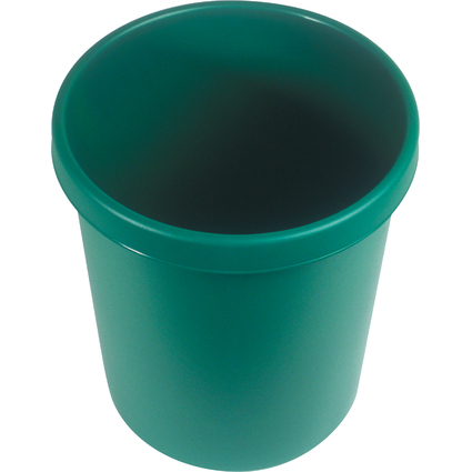 helit Gross-Papierkorb, 30 Liter, PE, grün