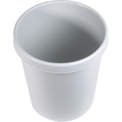 helit Gross-Papierkorb, 30 Liter, PE, lichtgrau