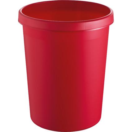 helit Gross-Papierkorb, 45 Liter, PE, rot