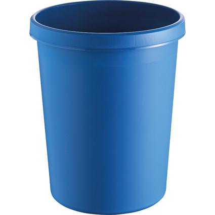 helit Gross-Papierkorb, 45 Liter, PE, blau