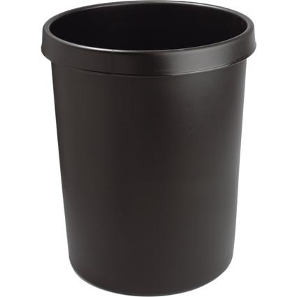 helit Gross-Papierkorb, 45 Liter, PE, schwarz