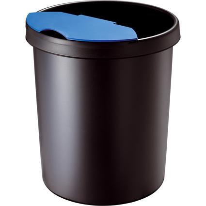 helit Gross-Papierkorb, 30 Liter, PE, schwarz