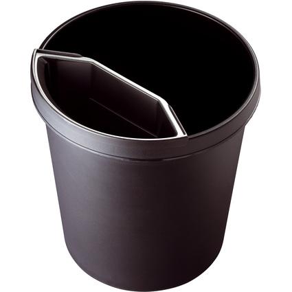 helit Abfall-Einsatz für Papierkorb H61058/H61052, schwarz