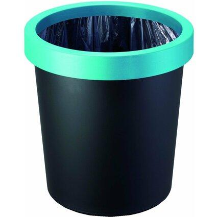 helit Papierkorb-Ring für Papierkorb 18 Liter, grün