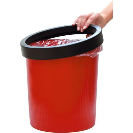 helit Papierkorb-Ring für Papierkorb 18 Liter, schwarz
