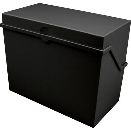 helit Klein-Karteikasten A7 quer, schwarz, unbestückt