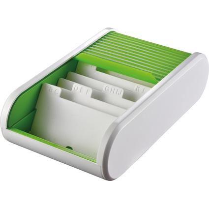 helit Colours Visitenkartenbox, weiß/hellgrün