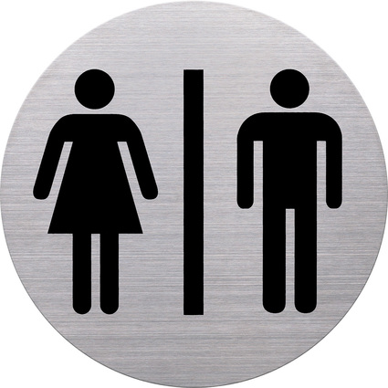 """helit Piktogramm """"WC Damen & Herren"""", Durchmesser: 115 mm"""