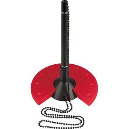 helit Kugelschreiber-Ständer, schwarz/rot