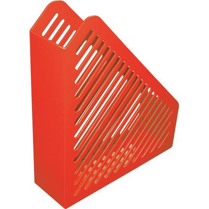 helit Stehsammler Gitterstruktur, DIN A4, Polystyrol, rot