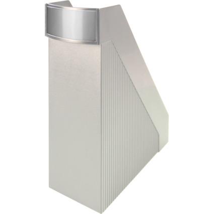 helit Stehsammler Linear, DIN A4, Polystyrol, lichtgrau