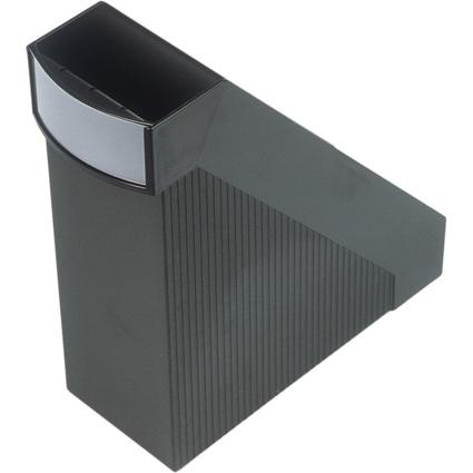 helit Stehsammler Linear, DIN A4, Polystyrol, schwarz