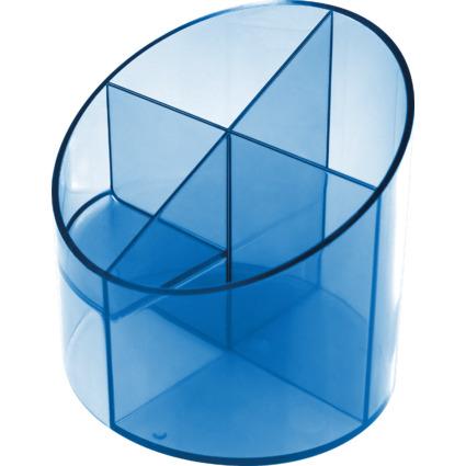 helit Multiköcher Economy Transparent, 4 Fächer, blau