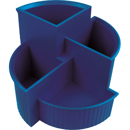 helit Multiköcher Linear, 4 Fächer, Polystyrol, blau