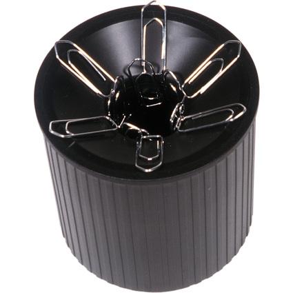 helit Klammernspender Linear, aus Polystyrol, schwarz