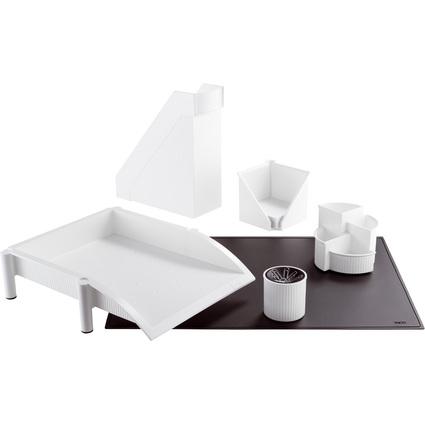 helit Schreibtisch-Set Linear, 6-teilig, weiß