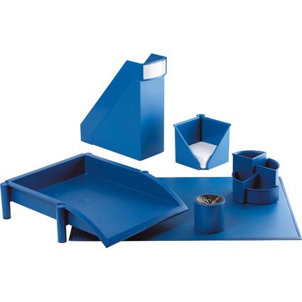 helit Schreibtisch-Set Linear, 6-teilig, blau