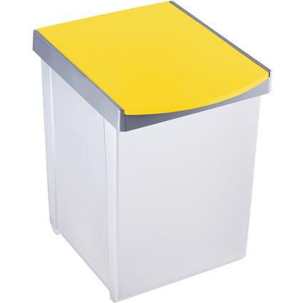 helit Wertstoffsammelbox, 20 Liter, gelber Deckel