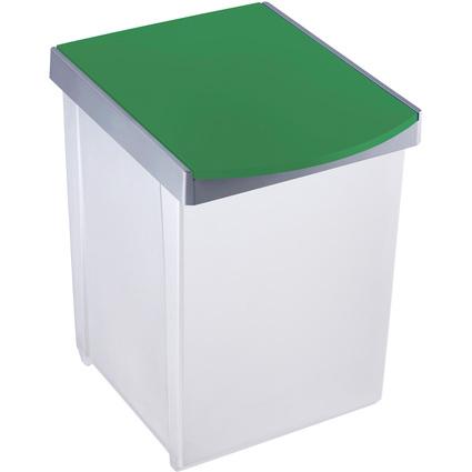 helit Wertstoffsammelbox, 20 Liter, grün
