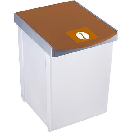helit Wertstoffsammelbox, 20 Liter, braun