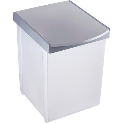 helit Wertstoffsammelbox, 20 Liter, mittelgrau