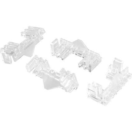 helit Verbinder für Präsentationssystem PLACATIV, glasklar