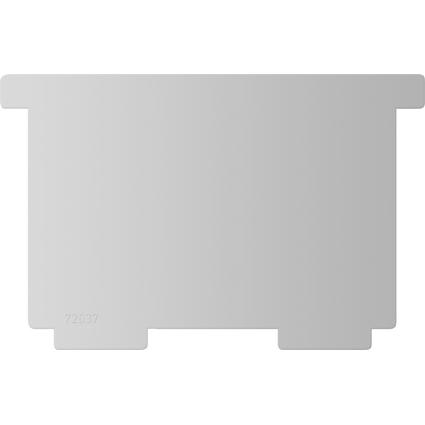 helit Stellbretter für Karteitrog A7 quer, lichtgrau