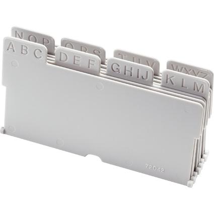 helit Unterteilung für Visitenkartenbox Linear, 8-teilig