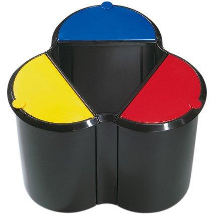 helit Deckel für Papierkorb Duo-System H61039, rot