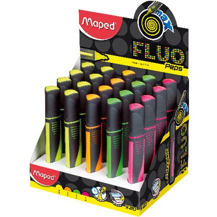 Maped Textmarker FLUO'PEPS MAX, 20er Display