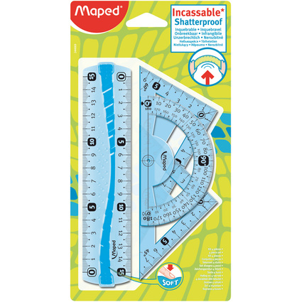 Maped Geometrie-Set Mini Flex, bruchfest, 4-teilig