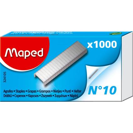 Maped Heftklammern Nr. 10, verzinkt, Kleinpackung