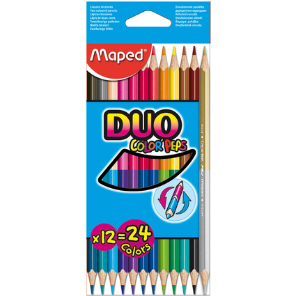 Maped Dreikant-Buntstift COLOR'PEPS DUO, 12er Kartonetui