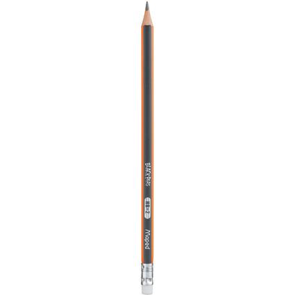 """Maped Bleistift BLACK""""PEPS, mit Radierer, Härtegrad: HB"""