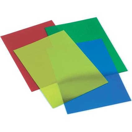 GBC Einbanddeckel HiClear, DIN A4, PVC, 0,20 mm, blau