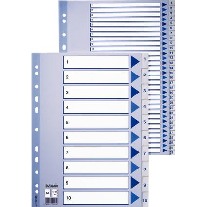 Esselte Kunststoff-Register, A-Z, A4, 20-teilig, PP, weiß