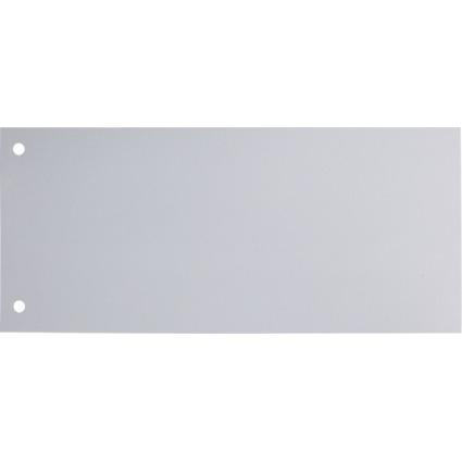 Esselte Trennstreifen, für DIN A4 Format, gelocht, weiß